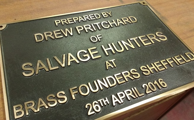 Salvage Hunters Plaque